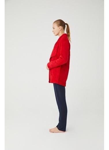 Mod Collection Kadın Welsoft Sabahlık Kırmızı